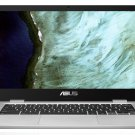 "NEW ASUS ChromeBook 14"" Laptop Intel Celeron 2.4GHz 64GB SSD 4GB RAM - Silver"