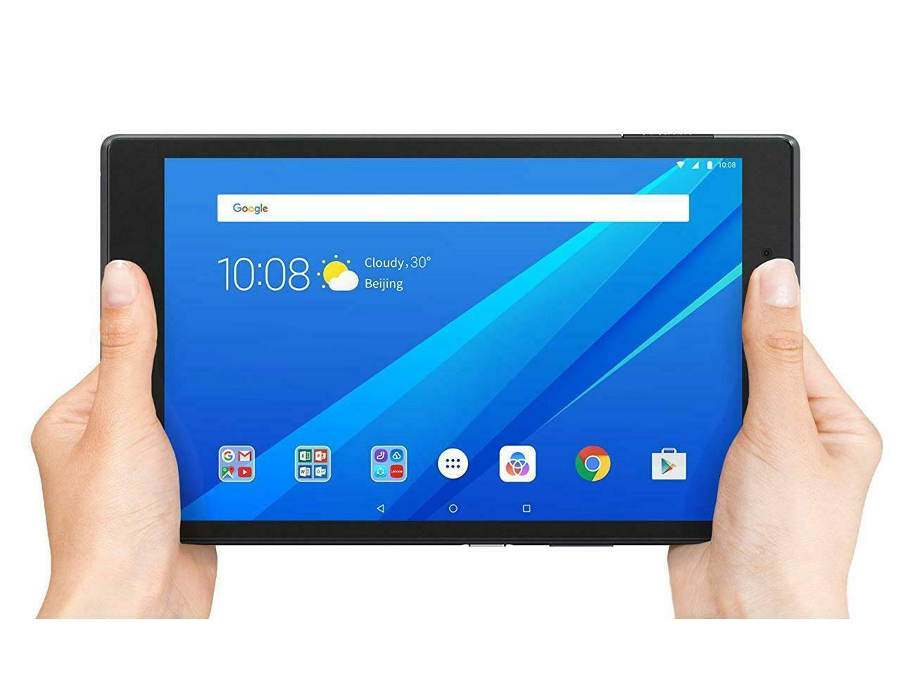 "Lenovo Tab 4 8"" 16GB SSD Snapdragon 1.4GHz 2GB Android 7.1 Webcam Slate Black"