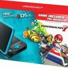 Nintendo New 2DS XL MarioKart 7 Pre-Installed Black Teal