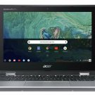 """Acer 2-In-1 11.6"""" Touch Screen Intel 2.4GHz 32GB SSD 4GB RAM Chromebook - Silver"""
