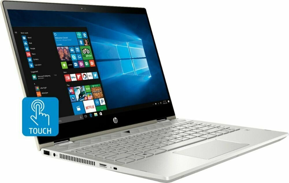 "NEW HP X360 14"" 2-in-1 FHD Touch Quad-Core i5-8250U 3.4GHz 128GB SSD 8GB RAM"