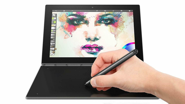"Lenovo Yoga Book 10.1"" Drawing Tablet 2 in 1 Intel Quad-Core 64GB SSD - Gray"