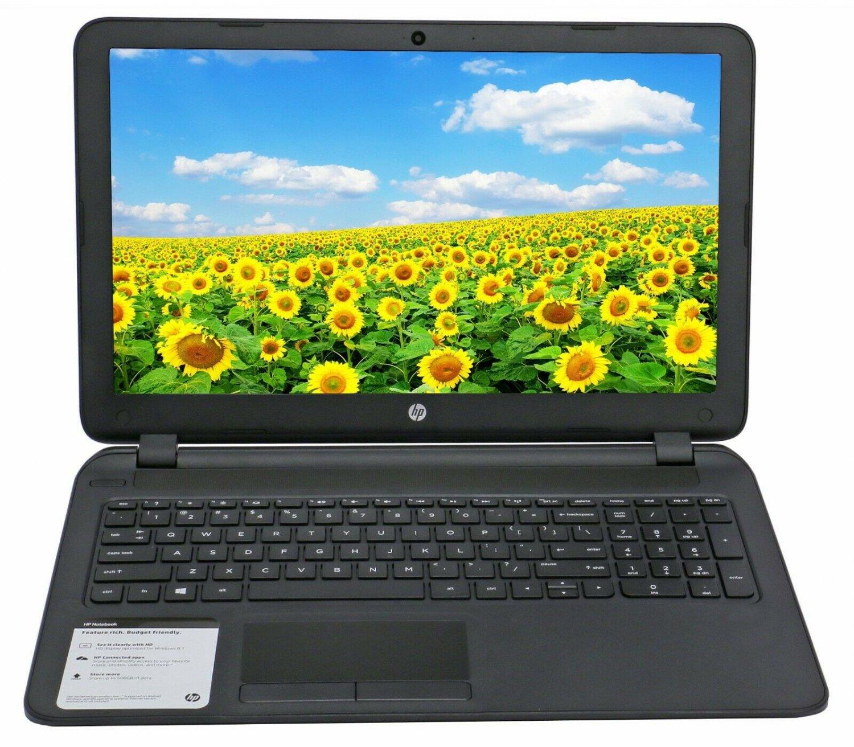 "HP 15.6"" Laptop Dual Core Max 2.1Ghz DVD+RW 500GB HDD 4GB Ram Windows 10 Webcam"