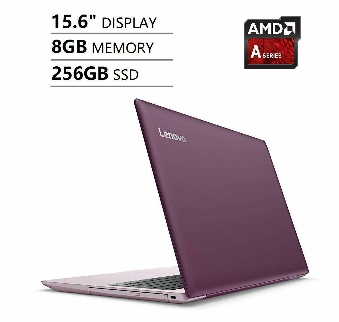 Lenovo IdeaPad HD 15.6 Dual Core 3.10GHz 256GB SSD 8GB RAM Windows 10 Plum