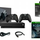 Microsoft Xbox One X TRUE 4K 1TB + 2 FREE GAMES INCL. + Headset + 2 Controllers