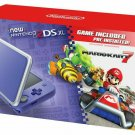 NEW Nintendo 2DS XL Mario Kart 7 Bundle Purple Silver + Game Mario Kart INCLUDED