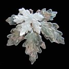Maple Leaf Multi-Leaf Silver Tone Shiny Pin/Brooch