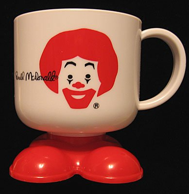 Ronald McDonald Plastic Drink Mug~Collectible~NEW