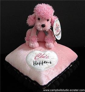"""Chic Happens"" Pink Posh Poodle Pint-Sized Pillow"