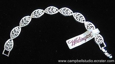 Silver Plated Filagree Eliptical MultiLink Bracelet NEW
