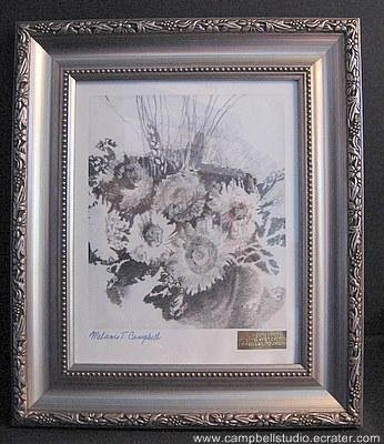 """""""Flowers"""" Framed Campbell Studio Limited Edition Print. Signed/Numbered"""