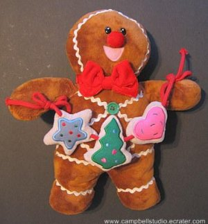 Ginger Bread Man Plush Christmas Decorater Doll N.MINT