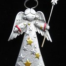 Angel Frosted Pewter by JJ Aurora Borealis Pin/Brooch Mint