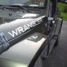 Pair of Jeep Wrangler hood Truck Vinyl Stickers Decals CJ TJ JK 4x4