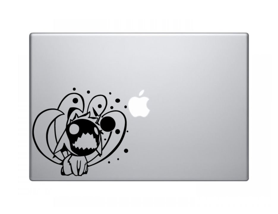 "Chibi Nine Tails Naruto Decal Sticker Skin Apple MacBook Pro Air Mac 13"" 15 iPad laptop"