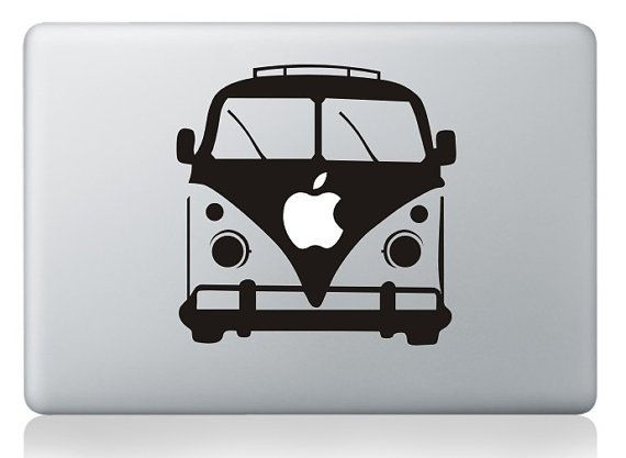 "VW Bus Apple Decal Sticker Skin for Apple MacBook Pro Air Mac 13""15"""