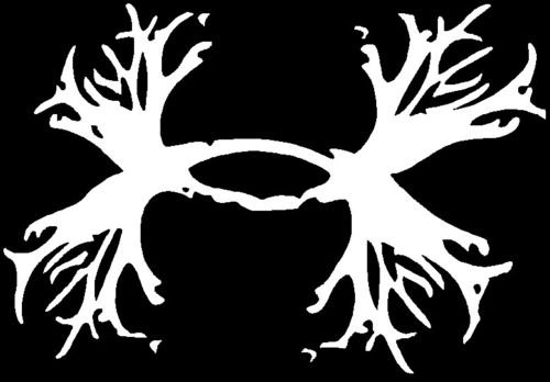 Under Armour Armor Antlers vinyl decal sticker Deer Outdoors Hunting