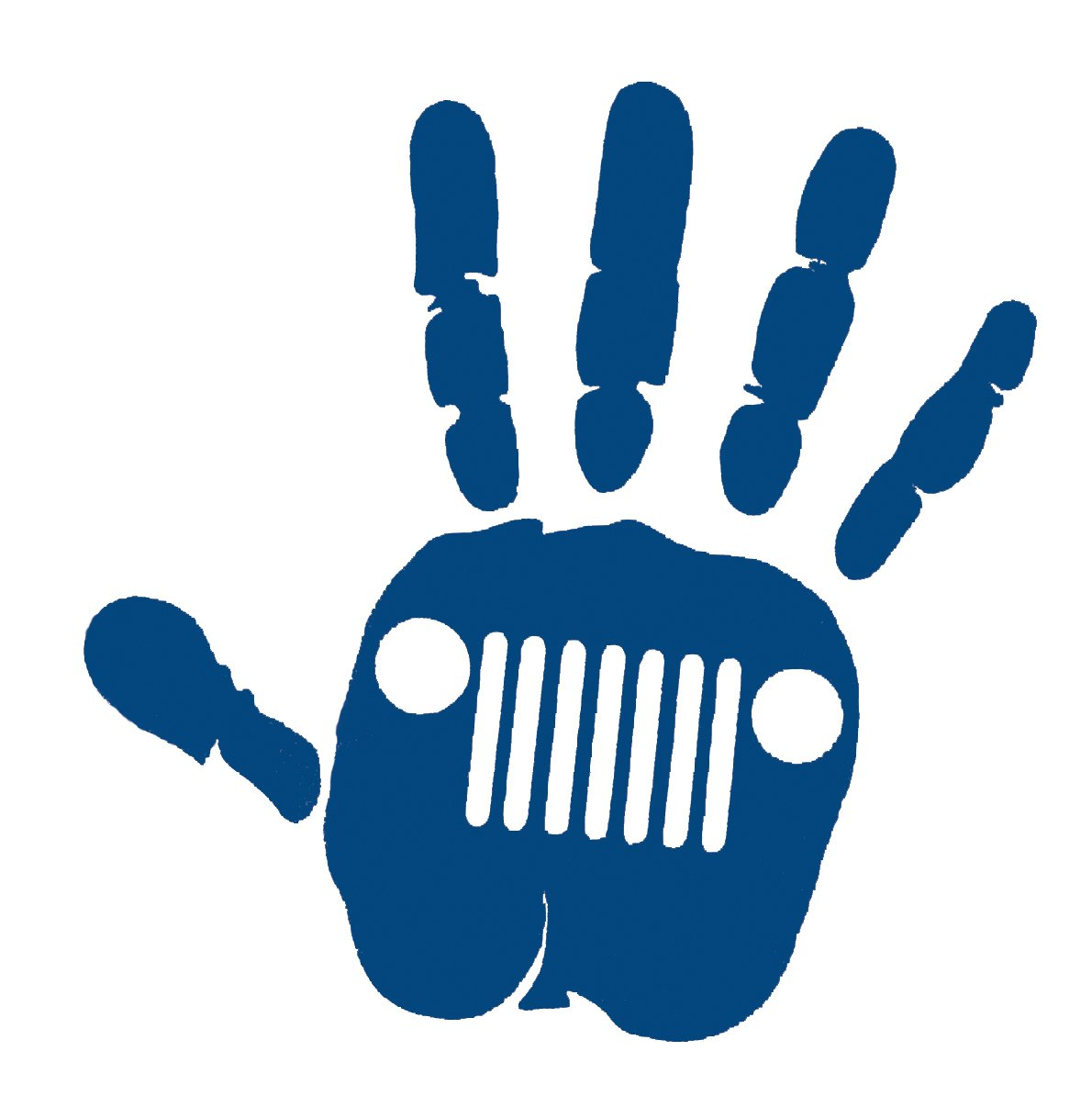 jeep wave decal-blue color