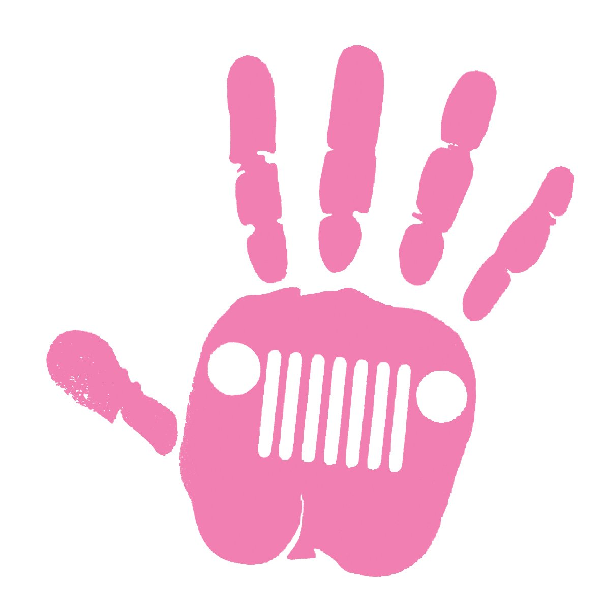Jeep wave decal-pink color