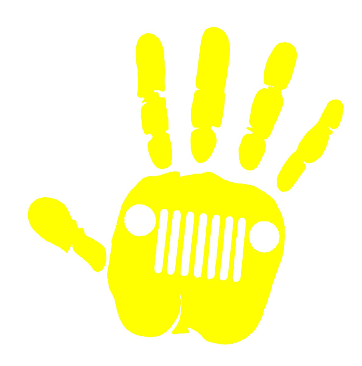 Jeep wave decal-yellow color