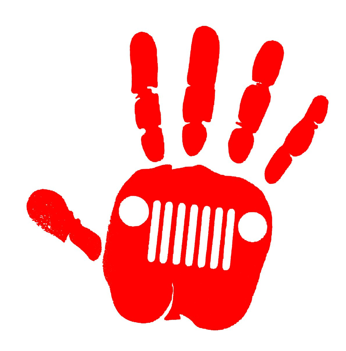 Jeep wave decal-red color