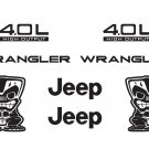 Jeep Wrangler Tiki Bob Refresh Kit Vinyl Sticker Decal 4x4 TJ YJ JK Islander
