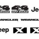 Jeep Wrangler X 4x4 Refresh Vinyl Decal Set