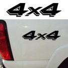 "4X4 DECAL TRUCK DECALS, DODGE DAKOTA OFFROAD STICKERS, 2-PACK SIZE: 3.25"" X 13"""