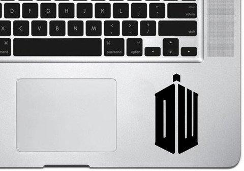 "Dr. Who Trackpad Vinyl Decal Sticker Skin Apple MacBook Pro Air Mac 13"" inch"