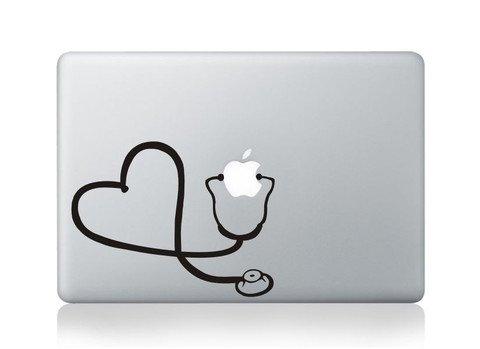 Stethescope Heart Vinyl Decal Sticker Apple MacBook Pro Air Mac