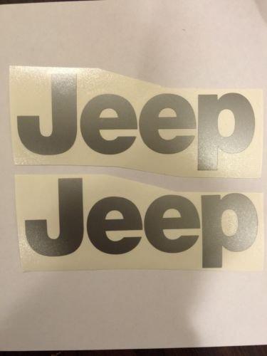 JEEP WRANGLER CJ YJ replacment fender vinyl Decal sticker 1 Set silver Decal