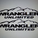 Jeep Wrangler Unlimited Fender Side Custom Vinyl Decals 1 Pair