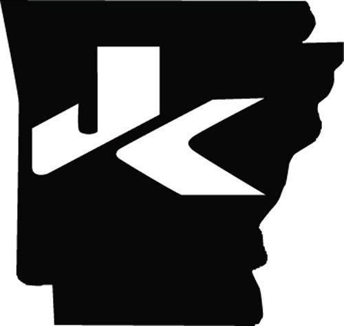 2 of Jeep JK Arkansas Decal Wrangler Decals Stickers Logo Black color