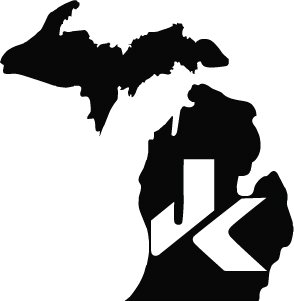 2 of Jeep JK Michigan Decal Wrangler Decals Stickers Logo Black color