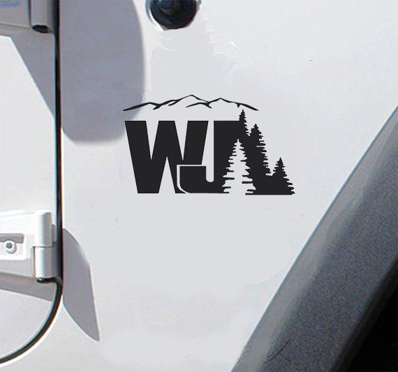 set of jeep WJ mountain tree decal