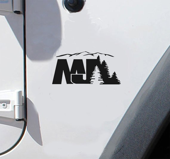 set of jeep MJ mountain tree decal