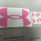 "Under Armour Decal Sticker Vinyl 1 Of 5"" And 4 Of 1.25"" pink Window Surfboard"