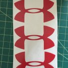 "Under Armour Decal Red Sticker Vinyl 3 Of 3"" Windows Surfboard Car Laptop"