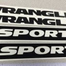 Jeep Wrangler Unlimited Sport Refresh Kit 2006-2014 Vinyl Stickers Decals-black