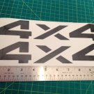 Dodge Nissan Side Fender decal stickers 4X4 RAM DAKOTA SPORTS Black