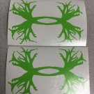 "Lot Of 3 Under Armour/Armor Antlers vinyl decal/sticker 5"" H L.Green Hunting Logo"