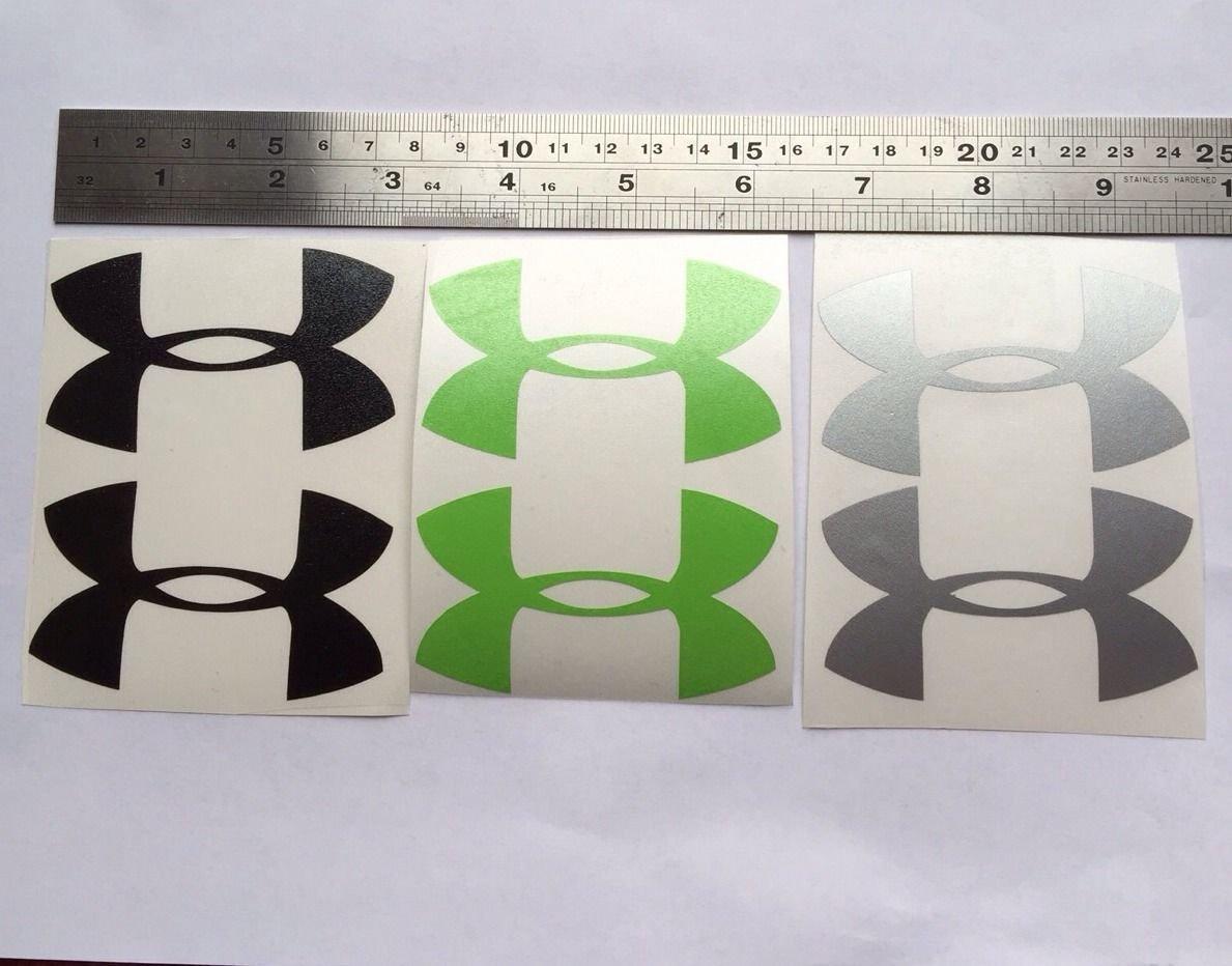 "Under Armour Decal Green Black Silver Sticker Vinyl 3"" Window Wall Car Logo"