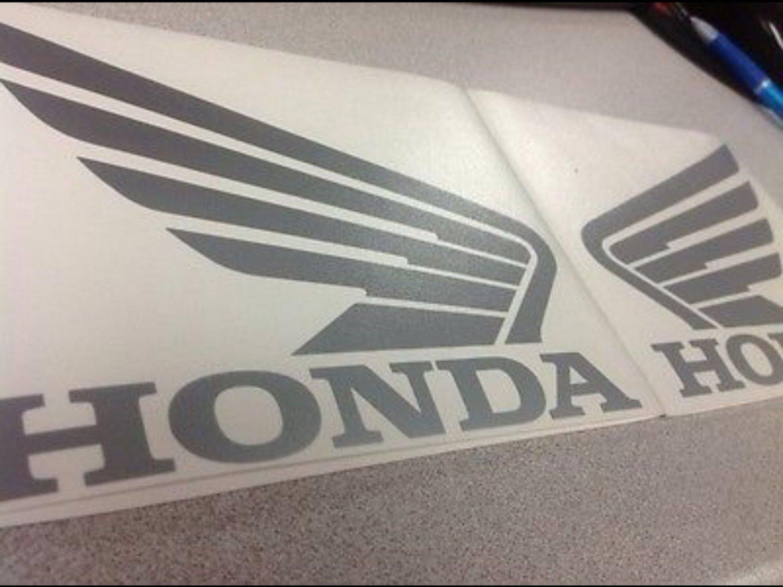 Honda Wings Set Vinyl Decal ATV Quad Tank Stickers