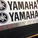 "Yamaha Motorcycle (2) Decals Stickers 11"" Vinyl Big Size 3D Carbon Fibers Black"