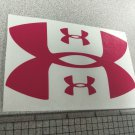 "Under Armour Decal Sticker Vinyl 1 Of 5"" And 4 Of 1.25"" Windows Surfboard pink"