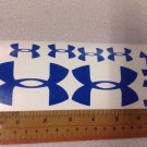 "Under Armour Decal Sticker Vinyl Mix Sz: 3"" 1.25"" Logo For Surfboard Window Blue"