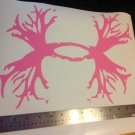 Under Armour/Armor Antlers vinyl decal/sticker Deer Outdoors Hunting*pink* 14""