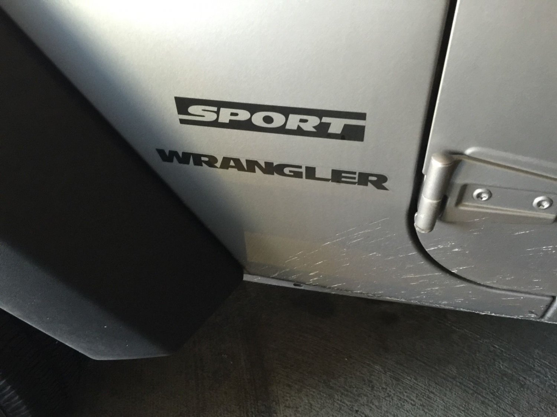 2 of Jeep Wrangler Sport Refresh Kit Vinyl Stickers Decal Black