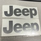 JEEP WRANGLER CJ YJ replacment fender vinyl Decal sticker 1 Set silver Decal