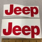 JEEP WRANGLER CJ YJ replacment fender vinyl Decal sticker 1 Set red Decal
